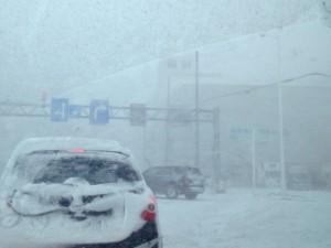 雪道、吹雪(4x3)
